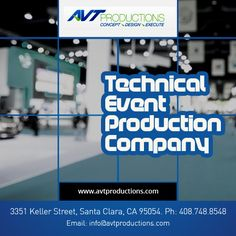 Avt Productions is one of the Bay Area best #Event #Production Companies. We take a fresh approach to meet your expectations and ensure a memorable event like no other.  We have 25 Years of experience in Event Production Services.