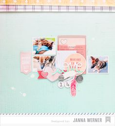 Janna Werner | American Crafts 'Pets Week' - scrapbooking layout dog (with Daydreamer collection from Dear Lizzy)