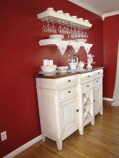 Sideboard. And I love the wine glass storage above!
