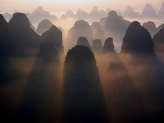 Karst Mountains, China. Photo by Monique van der Lint. #landscape #photography