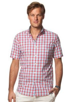Chaps  Short-Sleeve Checked Shirt
