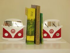 Kombi van bookends choose your own colour by ikandi11 on Etsy