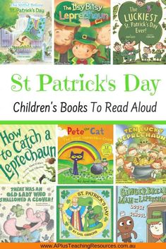 Saint Patrick's Day is a global celebration of Irish culture and a day to celebrate the patron Saint of Ireland, Saint Patrick, the colour green, pots of gold, shamrocks, leprechauns and Good Luck! Start the celebrations with our Saint Patrick's Day Activities For Kids this March 17th! #stpatricksday #craftsforkids St Patricks Day Crafts For Kids, St Patrick's Day Crafts, March Crafts, Spring Crafts, Kids Story Books, Books For Boys, Stories For Kids, St Patrick's Day Story, Preschool Books