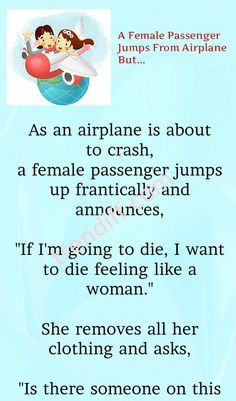 A Female Passenger Jumps From Airplane But. Husband Wife Tattoos, Marriage Jokes, Basic Instinct, Best Funny Jokes, Joke Of The Day, Sharon Stone, Perfection Quotes, Discover Yourself, Airplane