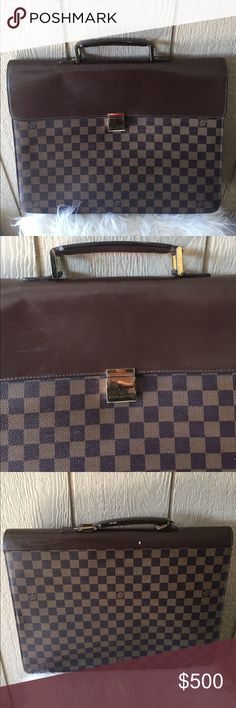 🌴LV briefcase🌴 To my knowledge it's authentic because it was bought preowned from consignment. If you have any questions just ask! My dad bought it for my mom and it just sat in her closet for like 4 yrs now so need a new home! Louis Vuitton Bags