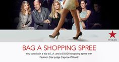 HOLD THE PHONE!  Re-pin and click here to WIN a trip to LA and $1,000 Macy's Shopping Spree AND get fashion advice from Fashion Star judge Caprice Willard! *Expires May 10 2013*
