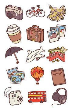 Travel Icons Pt.1 by Anneka Tran, via Flickr #infographics