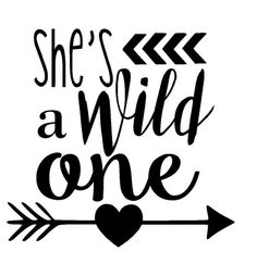 She's a Wild One SVG and JPG Instant Download by TheLadybugHouse