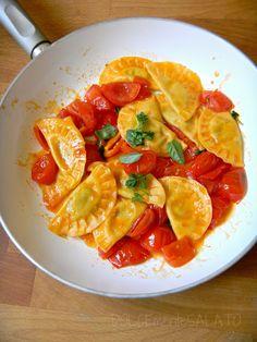 DOLCEmente SALATO: Mezzelune alle zucchine con pomodorini ed erbe aromatiche