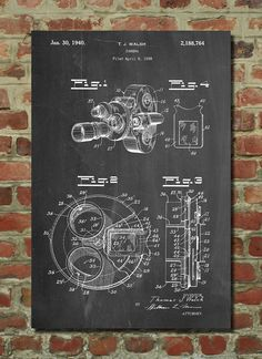 Vintage Camera 1938 Patent Wall Art Poster This patent poster is printed on 90 lb. Cardstock paper. Choose between several paper styles and multiple