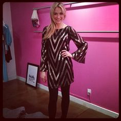 Actress Katrina Bowden in the @aliceandtrixie Veronica Dress