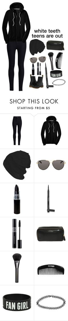 """all black tag ;3"" by a-lily-bit-of-everything ❤ liked on Polyvore featuring Rodarte, The Row, Ultimate, Anya Hindmarch, Gucci, shu uemura, Boohoo, Dr. Martens and tumblr"