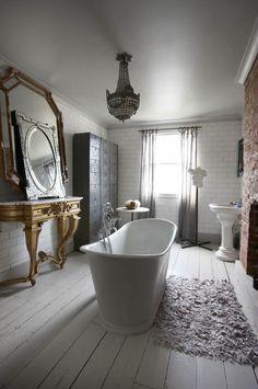 Banheiro decorado com cinza aconchegante | Eu Decoro