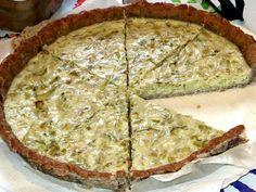 Receita Prato Principal : Tarte de alho francês (sem lácteos) de Saltamontes