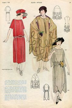 """Обложки и страницы американского журнала """"Elite Styles"""" 1920-х годов.: ester_wandrag"""