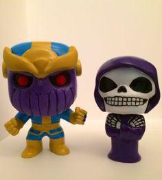 Custom Funko Pop! - Thanos & Mistress Death With Boxes