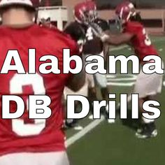 Top Defensive Back Technique - Alabama DB Drills — PlayMaker Network Db Football, Football Defense, Tackle Football, Football Workouts, Football Drills, American Football, Football Stuff, Football Conditioning Drills, Defensive Back