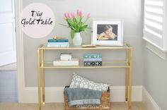 Honey We're Home: DIY // Gold Side Table