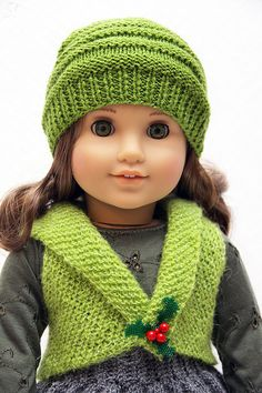 American Girl Christmas Holly Outfit 1 by StassyDodge on Etsy
