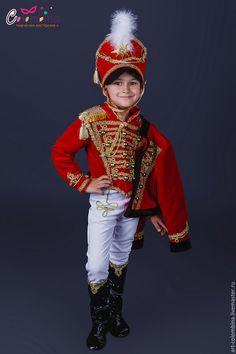Купить Костюм гусара - ярко-красный, гусар, костюм гусара, военный костюм, истрический костюм