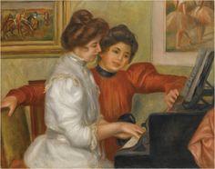 《ピアノを弾くイヴォンヌとクリスティーヌ・ルロル》