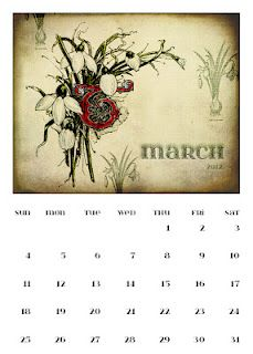 March Calendar Page 5 x 7