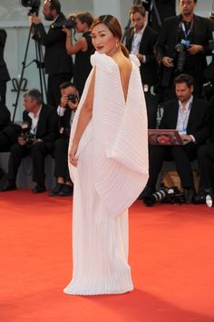 See All the Stars at the 72nd Venice Film Festival - Nicole Warne in Michael Lo Sordo with #Chopard jewels (Photo: Rex USA)