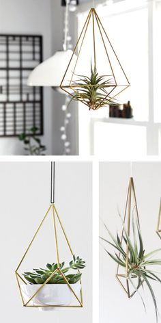 Love These: Hanging Mobiles and Planters by Hruskaa