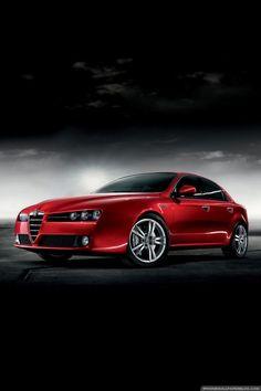 ♂ Red car Alfa Romeo 159 Sedan #ecogentleman