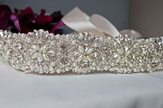 Pearl Crystal Rhinestone Bridal Wedding Dress Belt Sash (& Co.) | eBay  http://www.ebay.co.uk/itm/271161540008?ssPageName=STRK:MESELX:IT&_trksid=p3984.m1555.l2649#
