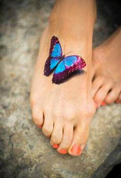3D Butterfly on Toe More