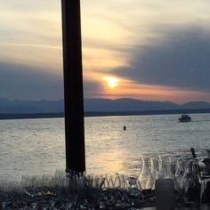 Ray's Boathouse - Seattle, WA, United States. Sunset from the bar