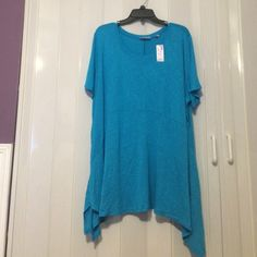 NWT!! T-shirt. NWT!! T-shirt with shark you're hemline. Great for the summer! Avenue Tops Tees - Short Sleeve