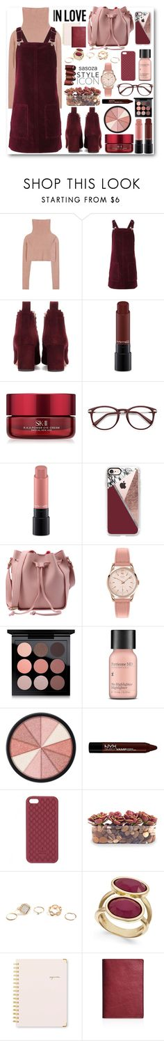"""""""color of the day by Sasoza"""" by sasooza ❤ liked on Polyvore featuring Valentino, Topshop, Chloé, MAC Cosmetics, SK-II, Casetify, Henry London, Perricone MD, Smashbox and NYX"""