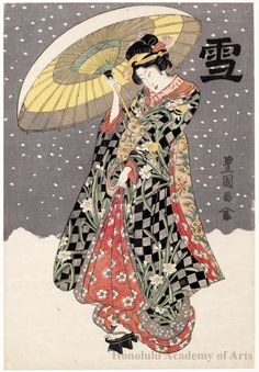 Snow: Sawamura Tanosuke I Series Title: Snow, Moon and Flowers Date: 1812 Artist: Utagawa Toyokuni I Japanese Art Prints, Japanese Art Modern, Ancient Japanese Art, Japanese Drawings, Traditional Japanese Art, Japanese Artwork, Japanese Painting, Japanese Illustration, Illustration Art