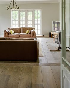 Wide Antique Grey Solid Oak Floor