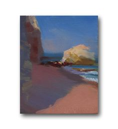 Seascape Painting on Canvas Art Minimalism Oil Art, Summer Freshness by Yuri Pysar