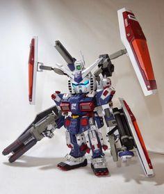 Custom Build: SD x HG Full Armor Gundam (Gundam Thunderbolt ver.) with LED - Gundam Kits Collection News and Reviews