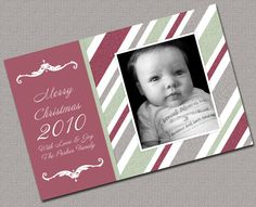 Photo Holiday Cards Christmas Cards Red and by alittletreasure