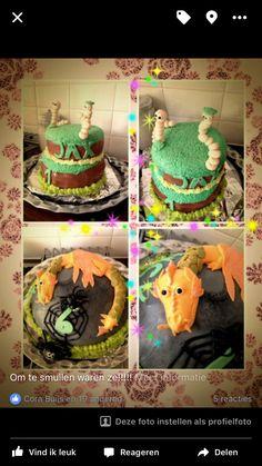 Wormen & draken taart
