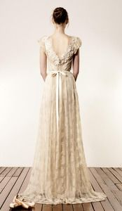 Champagne lace wedding gown by Anaessia