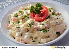 Cottage pomazánka s tvarůžky recept - TopRecepty. Potato Salad, Potatoes, Cottage, Cooking, Ethnic Recipes, Food, Drinks, Red Peppers, Kitchen
