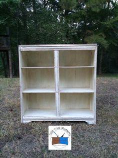 Painted handmade vintage bookcase