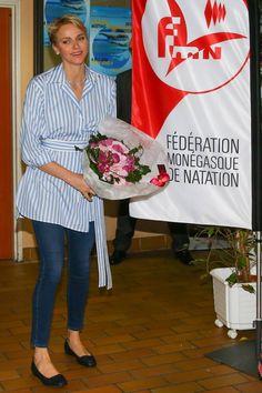 Charlène de Monaco, radieuse et dans son élément : la princesse ose le jean