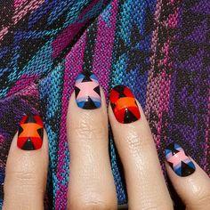 Flashback #2 woven pattern I made with @nailinghollywood a few years back ✌️ #tbt #favoritenails #mpnails #madelinepoole #nails #nailart #aztecnails