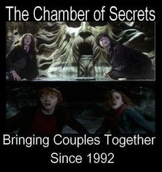The Chamber of Secrets, bring Gryffindor's together since 1992. Which is weird because it's a Slytherin place