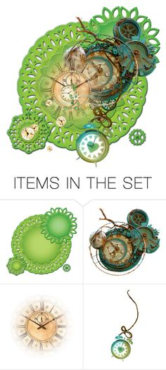 """Circles of time"" by no-where-girl ❤ liked on Polyvore featuring art"