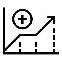 Increase icon / pictogram created by Rafael Farias Leão for The Noun Project.