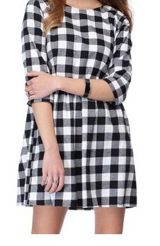 Gilly Plaid Dress - The Iconic