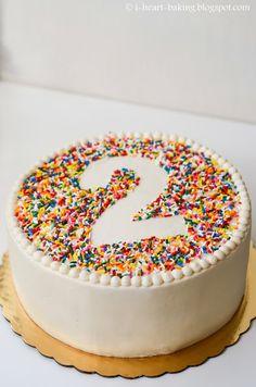 Rainbow Sprinkle Birthday Cake With Beaded Border
